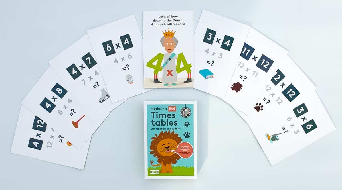 Flashies Times Tables Cards