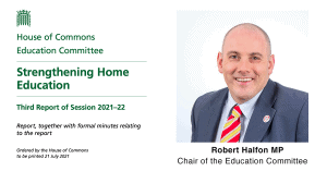 Register of Home Educated Children – Education Committee Third Report